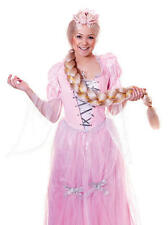 Ladies Long Blonde Plaited Wig Rapunzel Fairy Princess Fancy Dress
