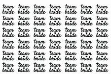 42 Hens Black Team Bride Temporary Tattoos  Amy Hens Night Party and Freebies