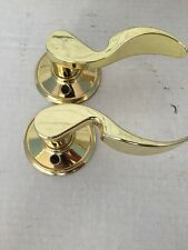 Schlage Gold Tone Door Handles. Pair Left And A Right