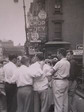 VINTAGE CHINATOWN MANHATTAN FOSS MOTT ST NY COCA COLA CIGAR CHOP SUEY SIGN PHOTO