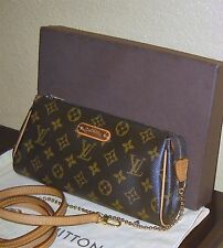 LOUIS VUITTON Eva Monogram Chain Strap Cross Body Pochette Sling Clutch Handbag