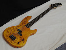 "LUNA Tattoo 30"" short scale 4-string BASS guitar NEW Laser Etched -TAT 30"