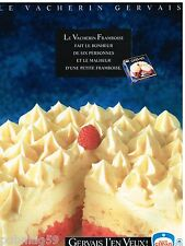 Publicité Advertising 1991 Glace Le Vacherin Gervais