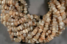 """NATURAL ADULARESCENT MOONSTONE NUGGET BEADS 8-15MM 16"""" STR PEACH WHITE GRAY"""