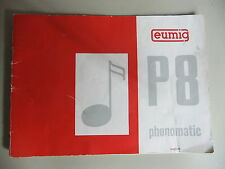 Instructions cine projector EUMIG P8 PHONOMATIC - CD/Email
