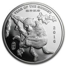 2016 Chinese Lunar Calendar Year Of The Monkey BU 1 oz Silver Round USA Coin