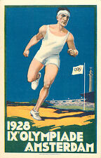 1928 Olympiade / Olympics ~AMSTERDAM~ Beautiful & Historic Old Postcard