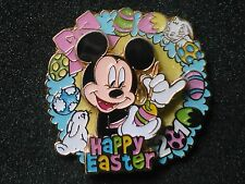 2010 MICKEY MOUSE PAINTING EASTER EGG DISNEY LE HAPPY EASTER PIN-ON-PIN DESIGN