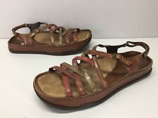 Kalso Earth Shoes Oasis Brown Leather Sandals Womens sz 11 B