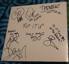 THUNDER RIP IT UP 2x LP WHITE LABEL ALBUM VINYL HAND SIGNED & PERSONALISED 2017