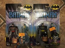 2002 BATMAN ANIMATED SERIES STYLE 2 PACKS LOT OF 2 MOC MATTEL JOKER TWO FACE F40