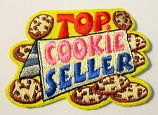 """New Girl Scout Cookie Sale Fun Patch """"Top Cookie Seller"""""""