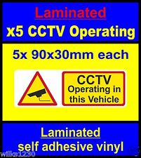 laminated 5x Taxi bus CCTV decals security car stickers sign mini bus coach