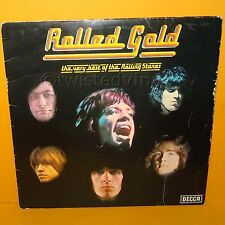 "DECCA THE ROLLING STONES - ROLLED GOLD UK 12"" GATEFOLD LP ALBUM VINYL RECORD"