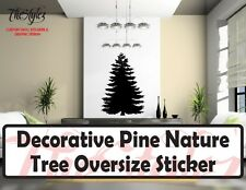 Decorative Nature Living Room Pine Tree Oversize Wall Vinyl Sticker