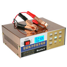 12/24V Electric Car Battery Charger Pulse Repair Lead Acid Battery Charger 100AH