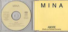 MINA RICCARDO COCCIANTE CD SINGLE PROMO 1 traccia MADE in ITALY Amore 1994