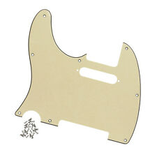 3Ply Cream Color Left Handed Guitar Pickguard For FD Telecaster Guitar