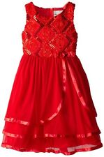 NWT Beautiful Rare Editions Girls' Fancy Sparkly Soutache Formal Dress Size 14