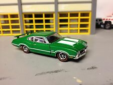 1/64 1970 Olds 442 Post Coupe in Ralley Green/White Int 455/ His/Hers Shifter