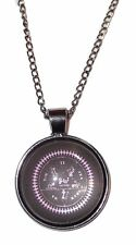 """BLACK BUTLER Logo GLASS DOME Pendant Necklace with 20"""" Chain"""