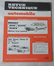 Revue technique automobile RTA 446 1984 Renault 25 TS GTS GTX moteur 4 cyl ess