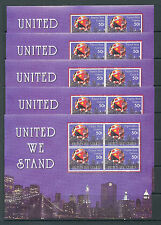 PAPUA NEW GUINEA PNG 2002 United We Stand MNH Sheet x 5(Pap156)