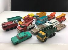 Lot of 14 Vintage Matchbox Series by Lesney Miniature Toy Cars Look Whats Here