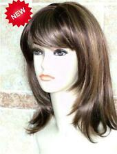 Fashion Women Heat Long Dark Brown Straight Natural Cosplay Party Hair Full Wigs