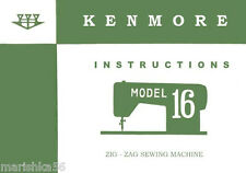 KENMORE 16, 158.160 OWNER'S Guide / INSTRUCTION Manual on CD in PDF format