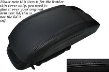 BLACK STITCH LEATHER ARMREST SKIN COVER FITS VAUXHALL OPEL ZAFIRA C 2012-2014