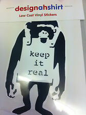 BANKSY KEEP IT REAL STICKER FOR BIKES CARS FILES BOOKS TOOLBOX