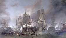 Battle of Trafalgar Nautical Seascape Canvas or Fine Art Poster Print Stanfield