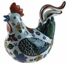 Portuguese Style Ceramic 17cm Chicken / Hen - Kitchen Ornament Figurine