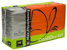 17 ConfiDry 24/7 Dry Care Max Absorbency Adult Brief Diapers Medium Plastic ABDL