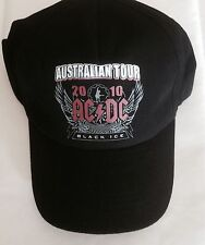 AC/DC AUSTRALIAN TOUR BLACK ICE BASEBALL CAP HAT ACDC COLLECTORS CAP GIFT Summer