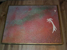 A Life In The Spot Light Praise & Adulation Vintage Abstract Oil Painting by CX