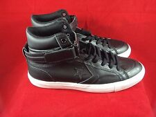 Black Leather Hi-Top Converse Athletic Shoes New Without Box!! Size 10