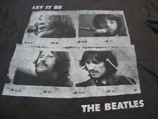The Beatles Classic Rock Music Band Fan Let it Be Album Black T Shirt M