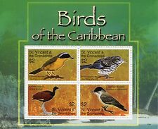 St Vincent & The Grenadines 2007 MNH Birds of Caribbean 4v M/S Jacana Warbler