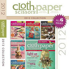 6 Issues on CD: CLOTH PAPER SCISSORS MAGAZINE 2012 Mixed Media Felting Upcycle