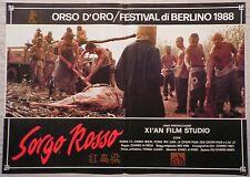 Fotobusta SORGO ROSSO (1) 1989 GONG LI, JIANG WENG, TENG RU