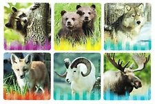 12 Wild Animal Creatures Stickers Kid Reward Party Goody Loot Bag Favor Supply