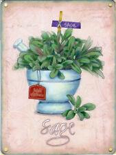 Salvia Hierbas Garden Comida Y Bebida Cocina Café Tienda Original Imán De Nevera