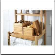 IKEA Dragan 2 Piece Bathroom Set Bamboo Organiser Tidy Multi Purpose Trendy New
