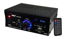 Pyle pcau 25A 2 X 40 vatios amplificador de potencia estéreo reproductor USB/SD AUX y remota