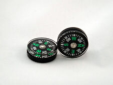 10X Button Compass Hiking Camping Travel Survival Mini Compact Pocket NOSSIL