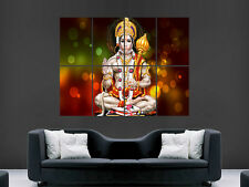 GOD HANUMAN HINDU MONKEY GOD  MONEY IMAGE  LARGE WALL POSTER PICTURE