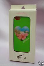 NIB HOLLISTER 1922 iPHONE 5 LIGHT GREEN HARD PLASTIC PHONE CASE COVER FOR HER