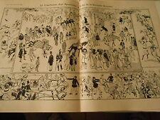Cauchemar d'un Sportsman à la fin de la Grrrande Semaine Print Art Déco 1909